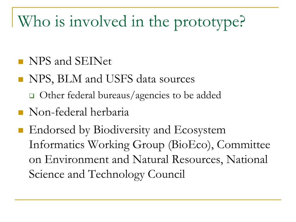 Who is involved in the prototype?