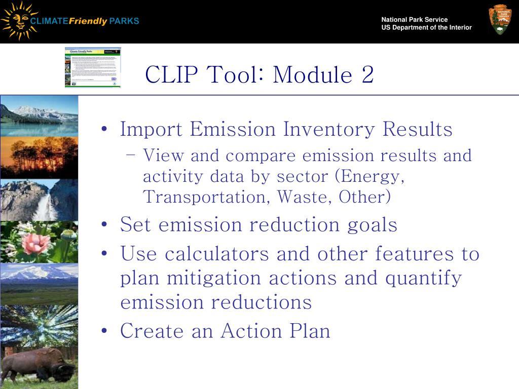 CLIP Tool: Module 2