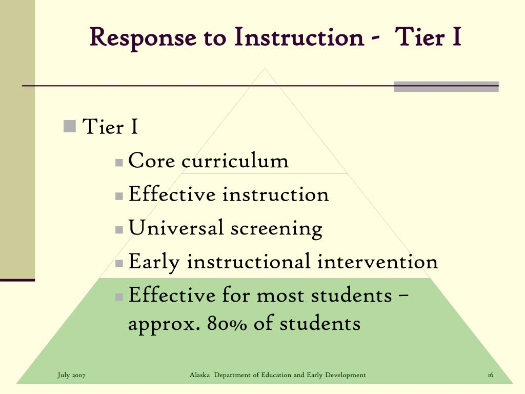 Response to Instruction -  Tier I