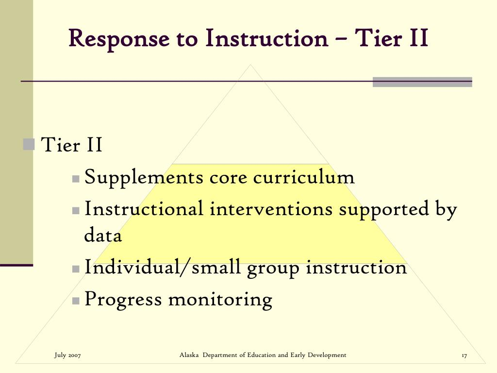 Response to Instruction – Tier II