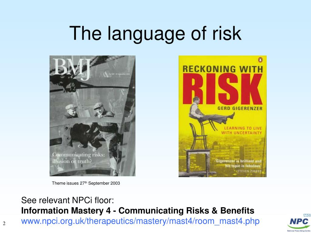 The language of risk