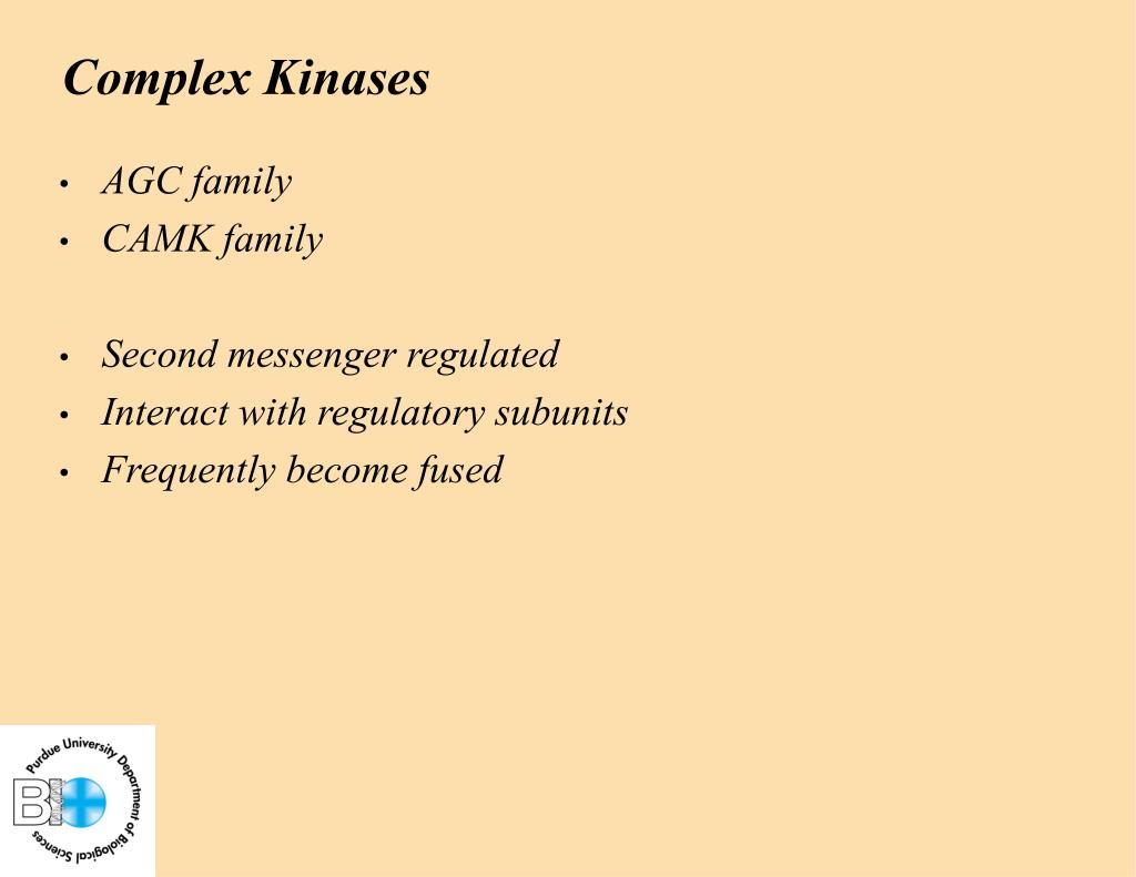 Complex Kinases