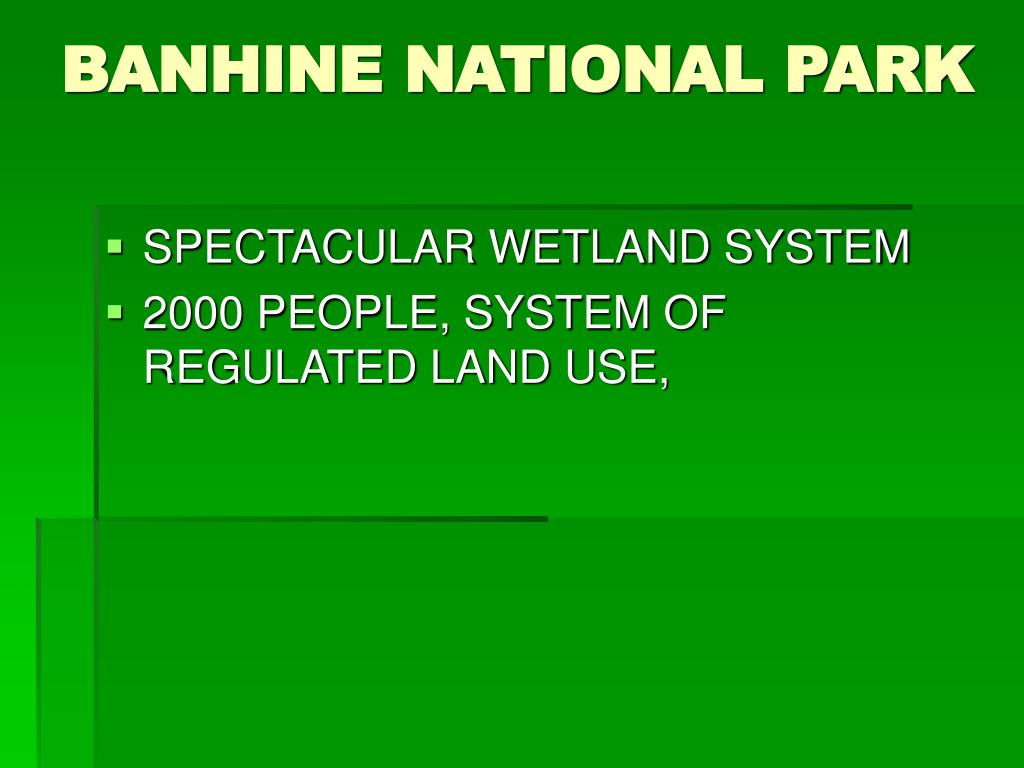BANHINE NATIONAL PARK