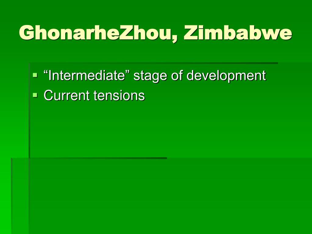 GhonarheZhou, Zimbabwe