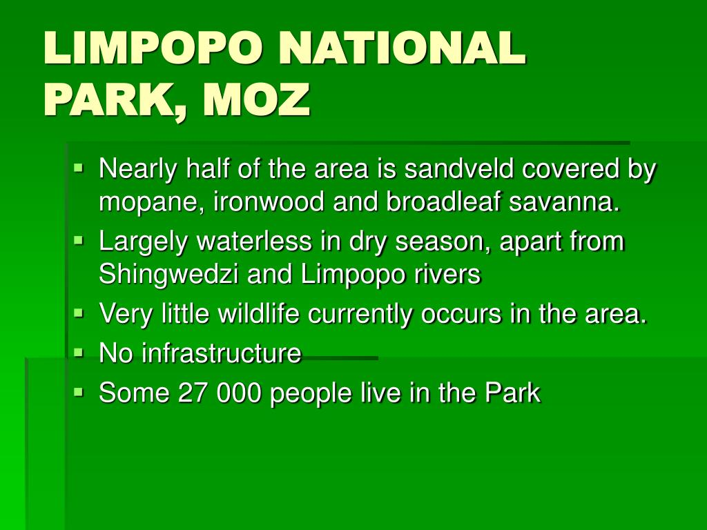 LIMPOPO NATIONAL PARK, MOZ