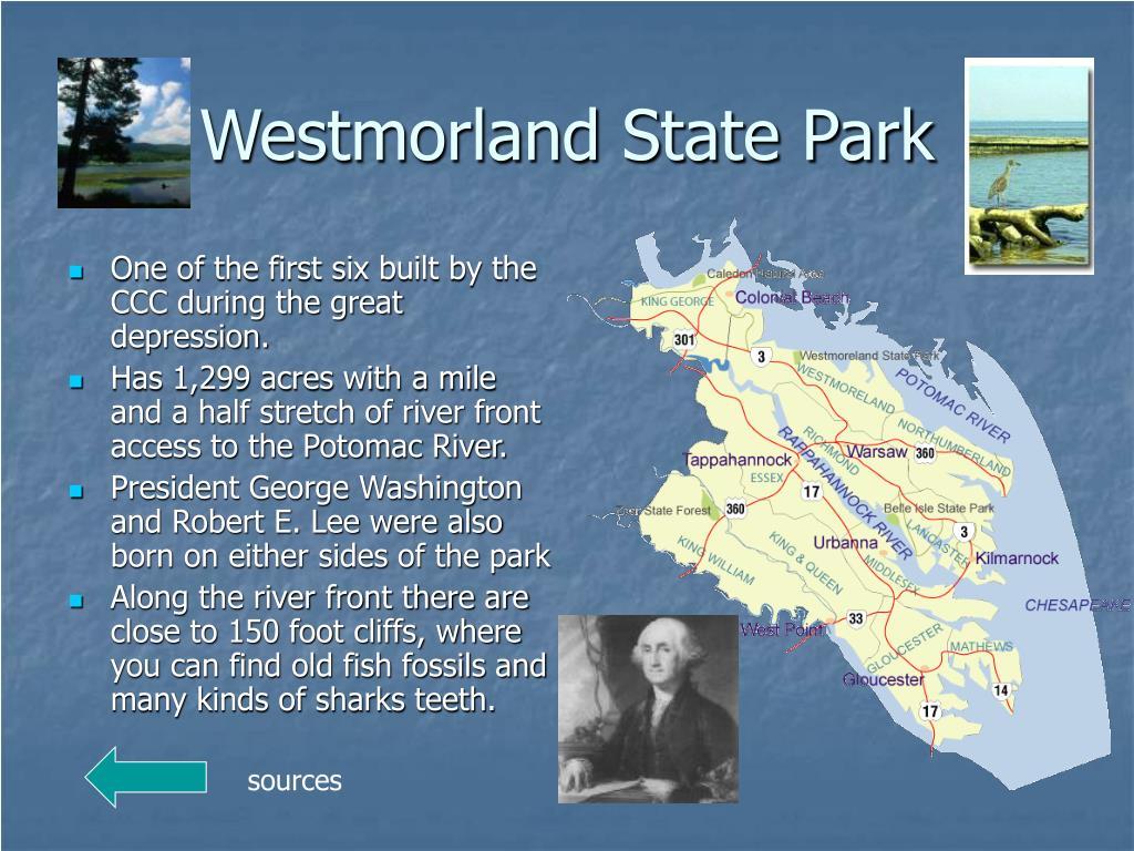 Westmorland State Park