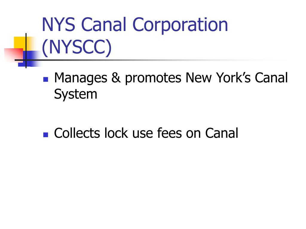 NYS Canal Corporation (NYSCC)