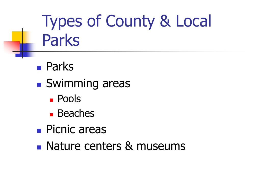 Types of County & Local Parks