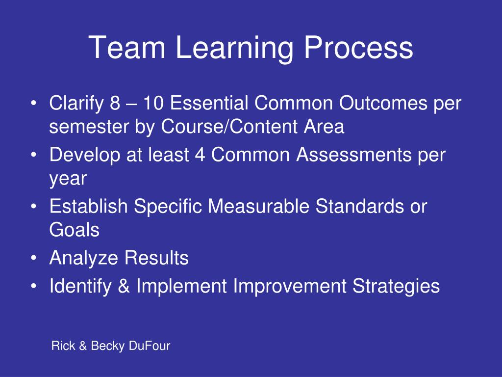 Team Learning Process