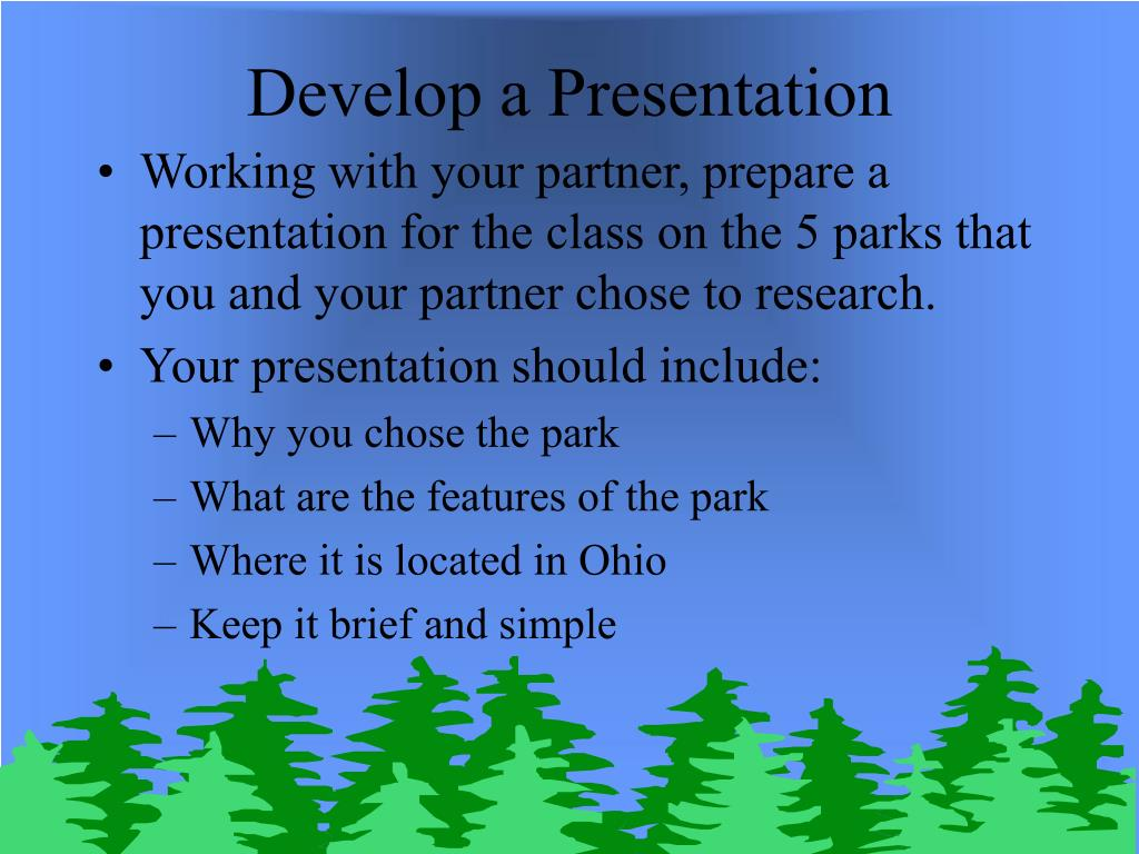 Develop a Presentation