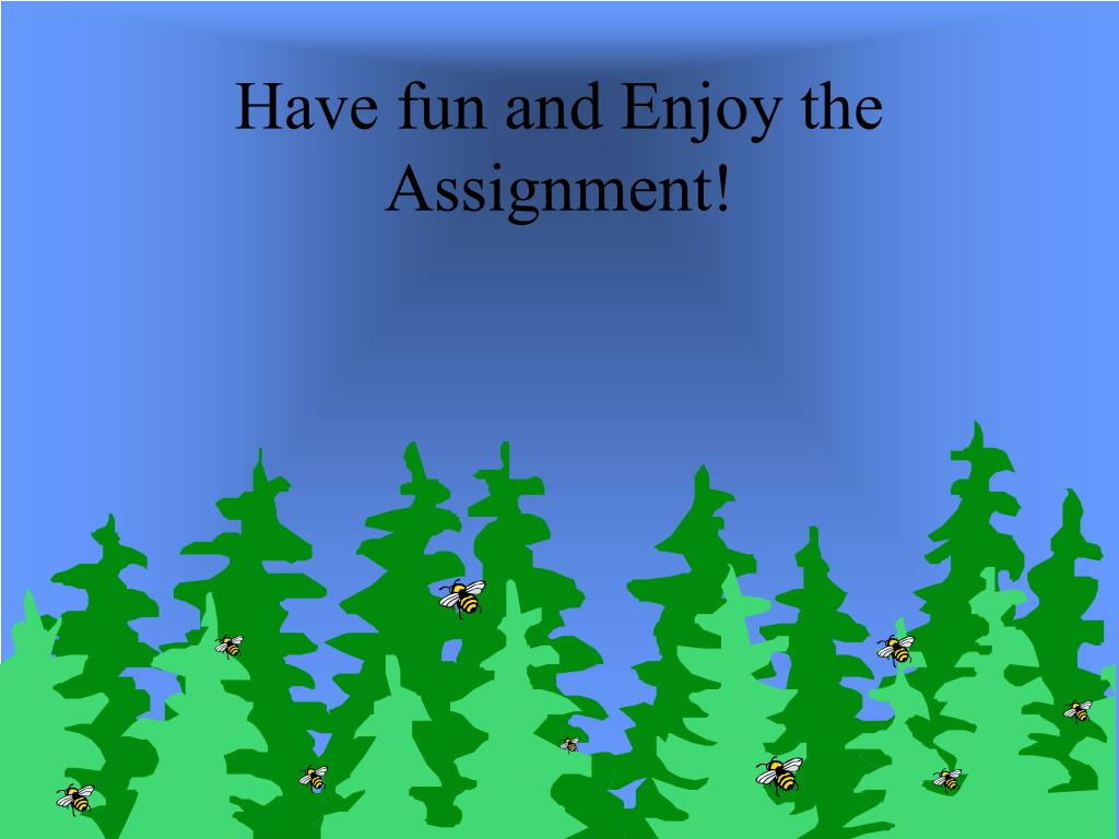 Have fun and Enjoy the Assignment!