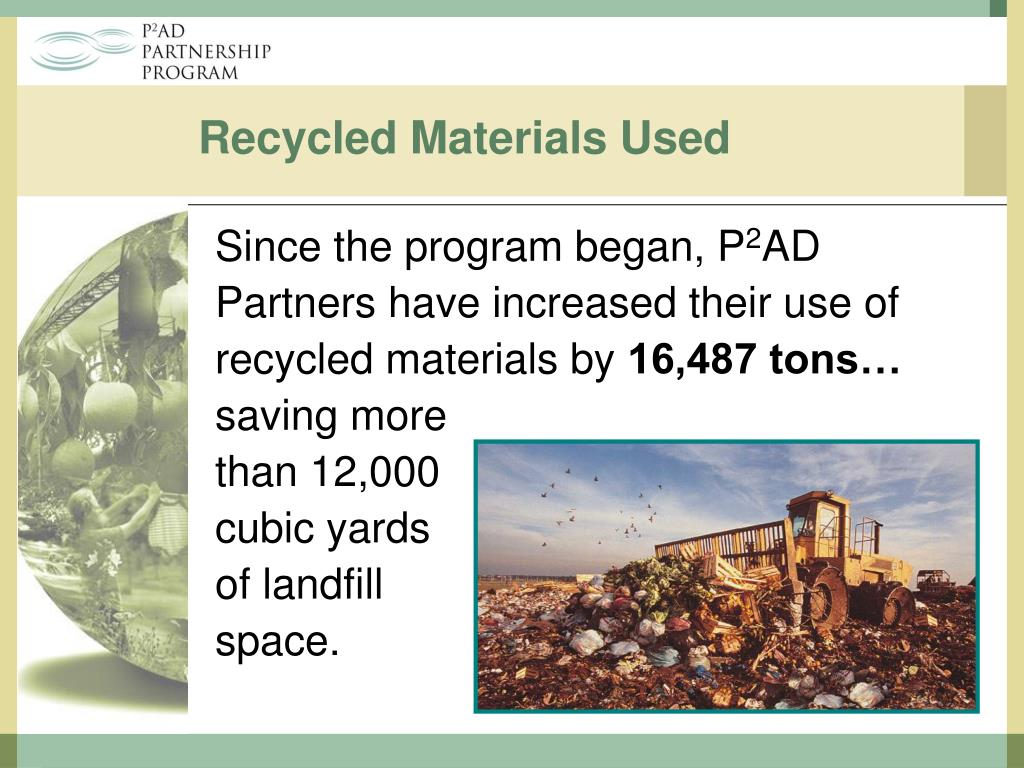 Recycled Materials Used