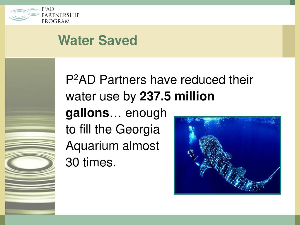 Water Saved