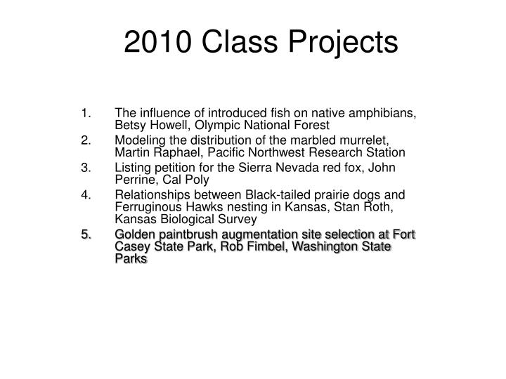 2010 class projects