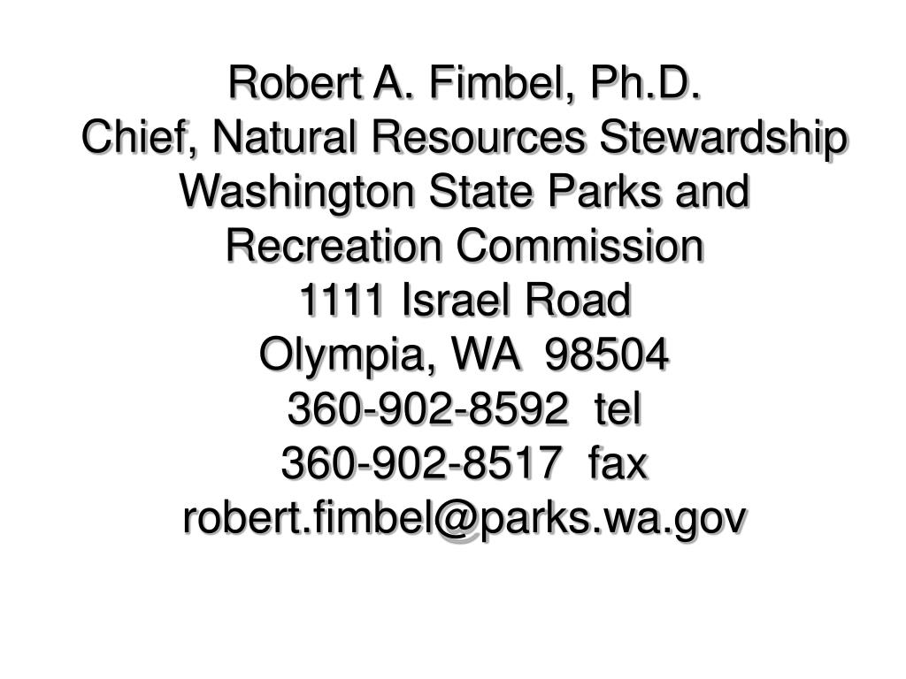 Robert A. Fimbel, Ph.D.