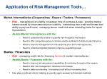 application of risk management tools12