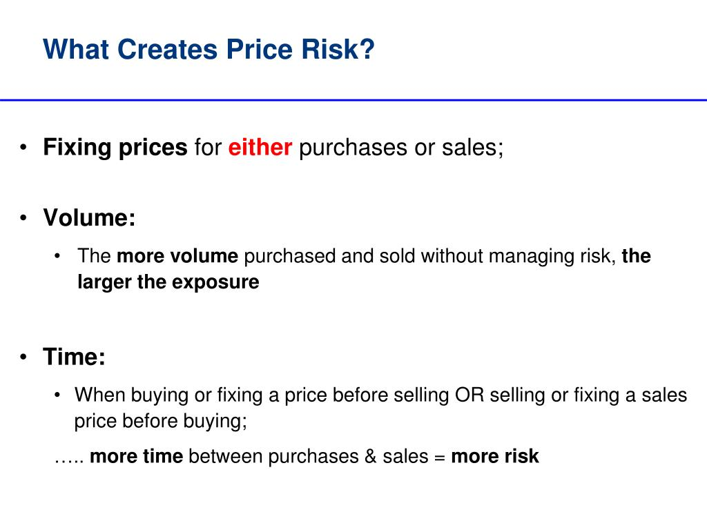 What Creates Price Risk?