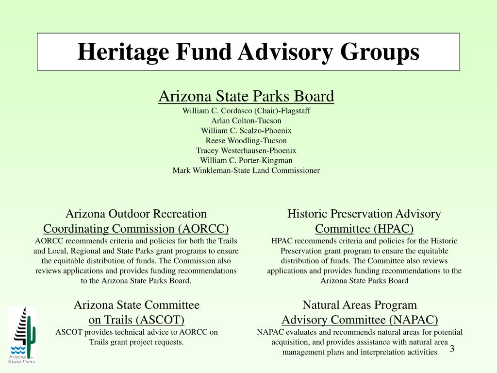 Heritage Fund Advisory Groups