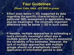 four guidelines sloan cella hays jce 2005 in press28
