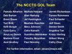 the ncctg qol team