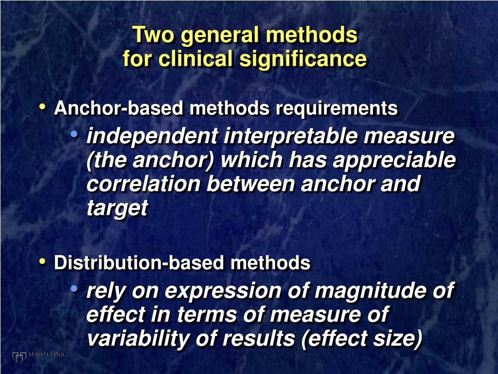 Two general methods