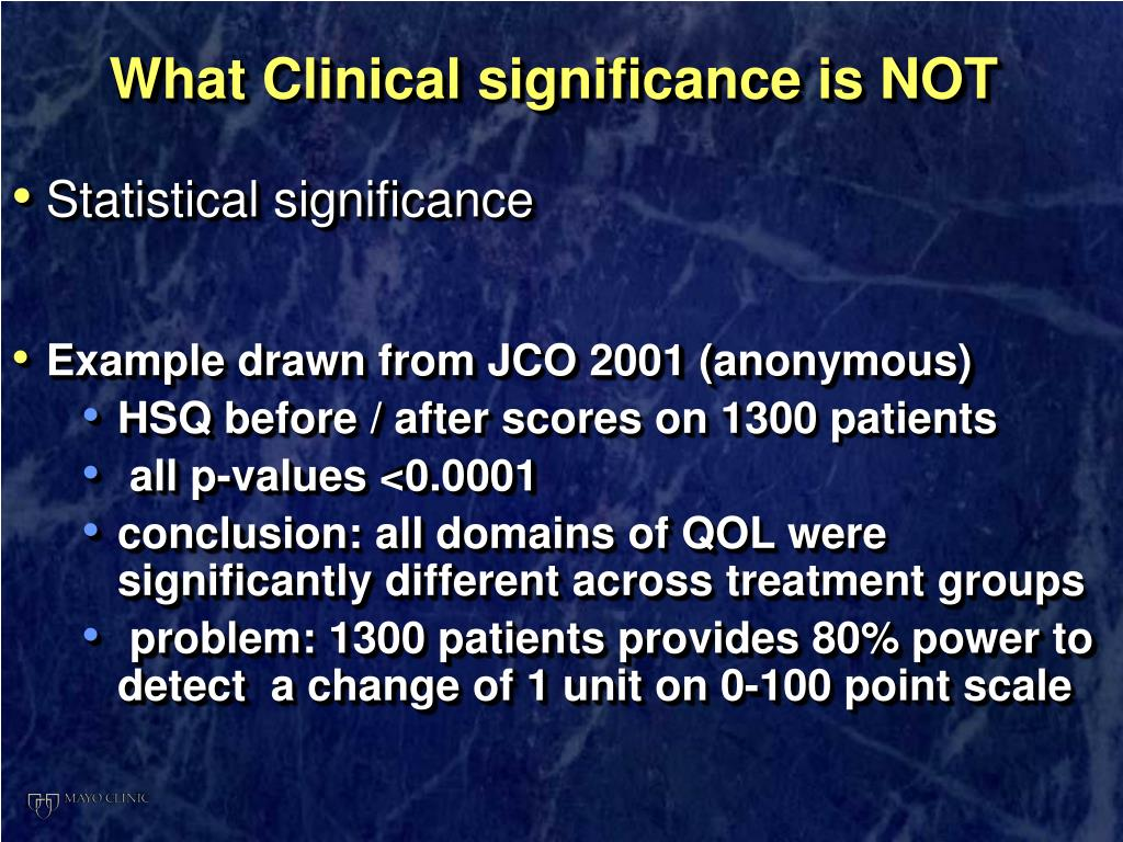 What Clinical significance is NOT