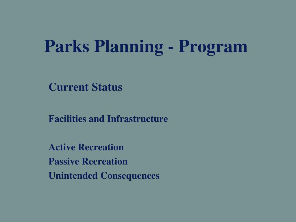 Parks Planning - Program