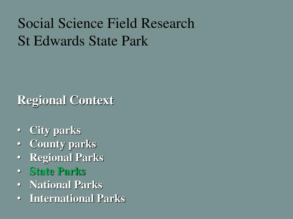 Social Science Field Research