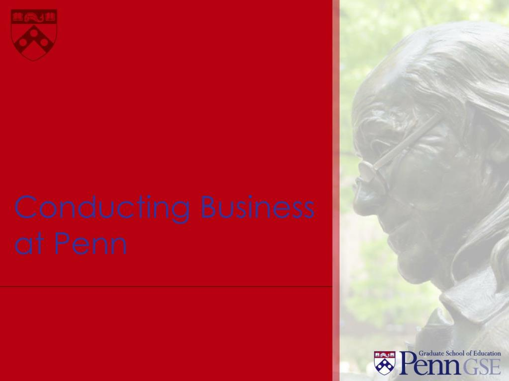 conducting business at penn
