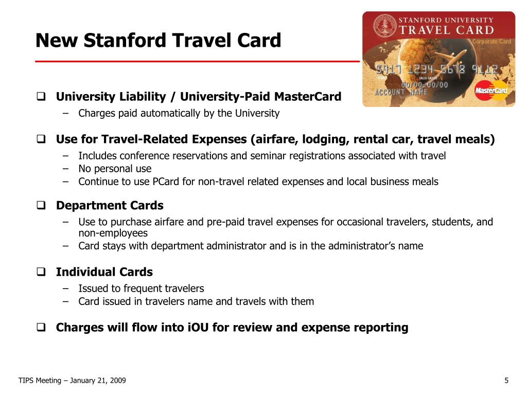 New Stanford Travel Card