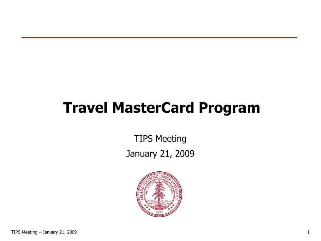 Travel MasterCard Program