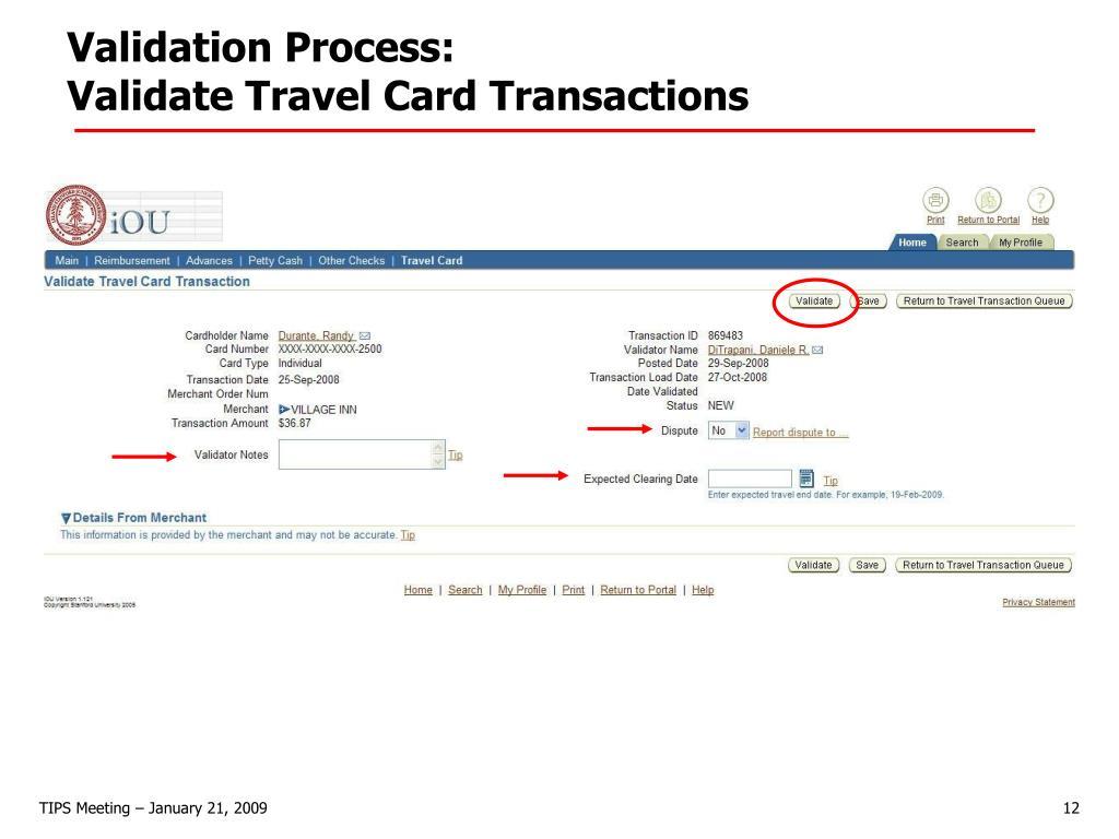 Validation Process: