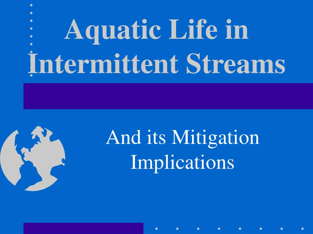 Aquatic Life in Intermittent Streams