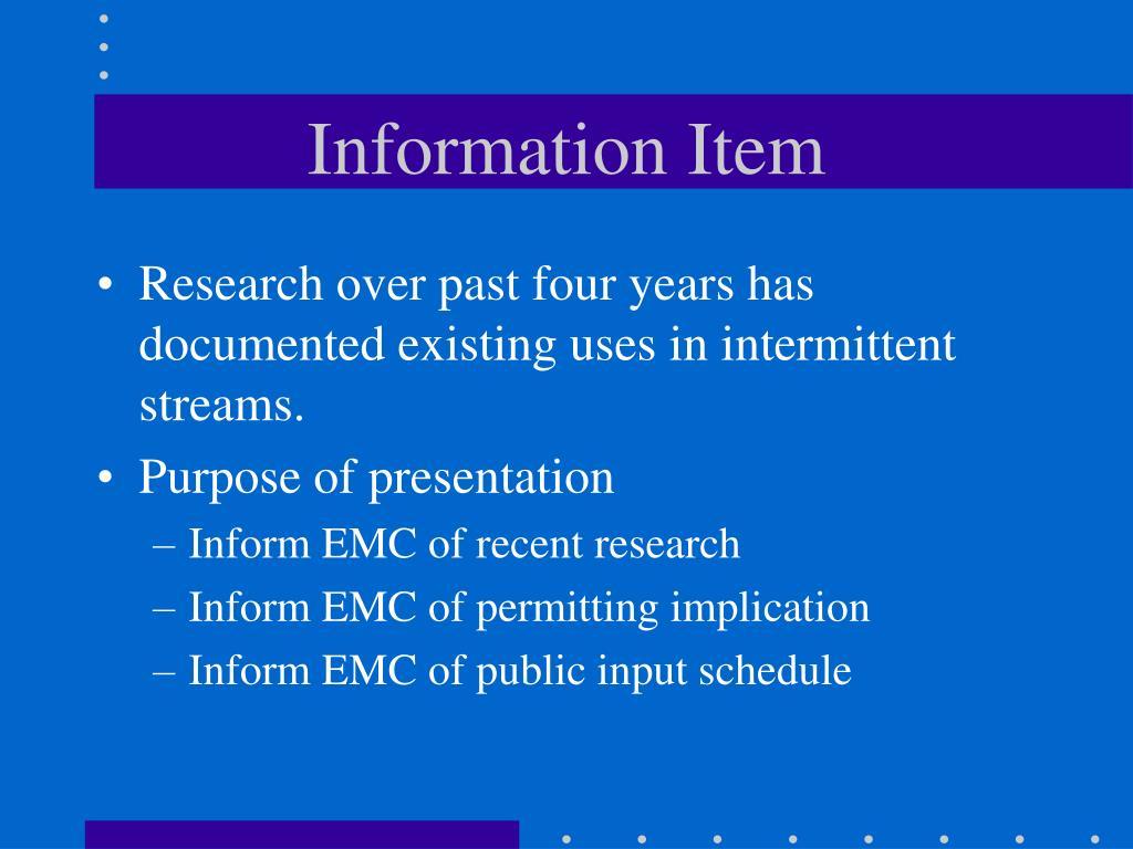Information Item