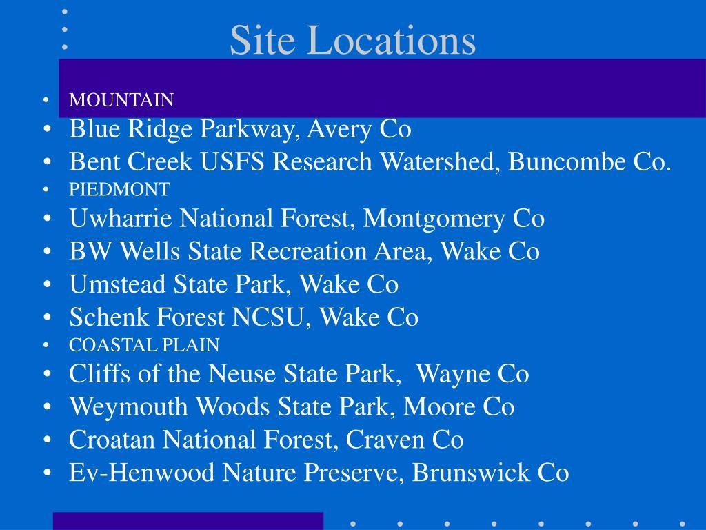 Site Locations
