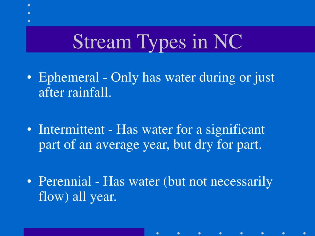 Stream Types in NC