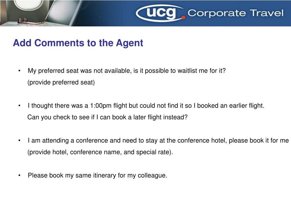 Add Comments to the Agent