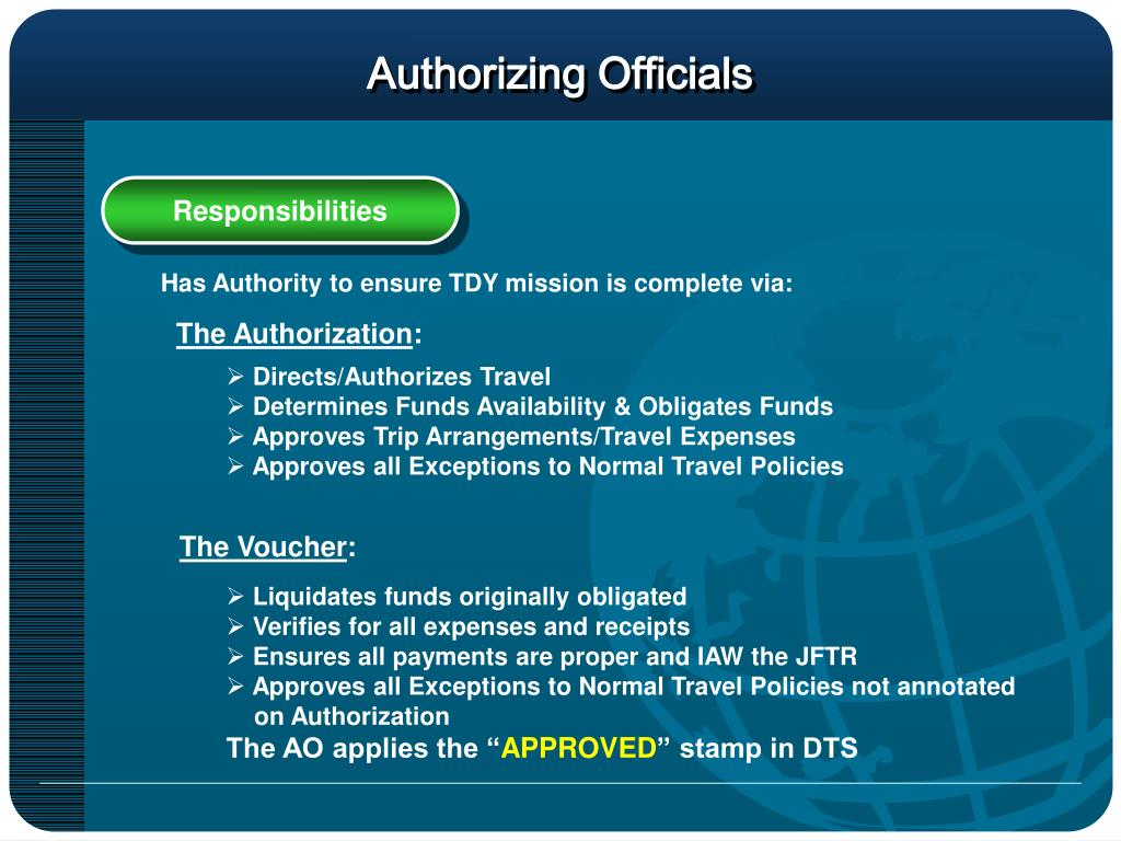 Authorizing Officials