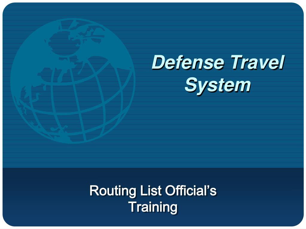 Defense Travel System