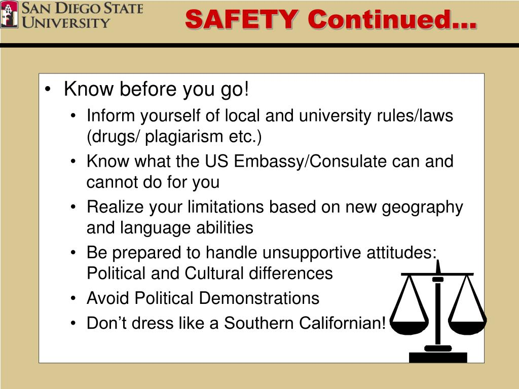 SAFETY Continued…