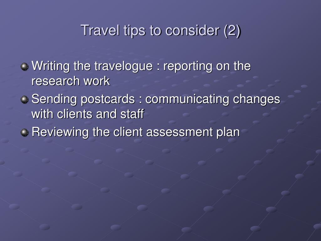 Travel tips to consider (2)