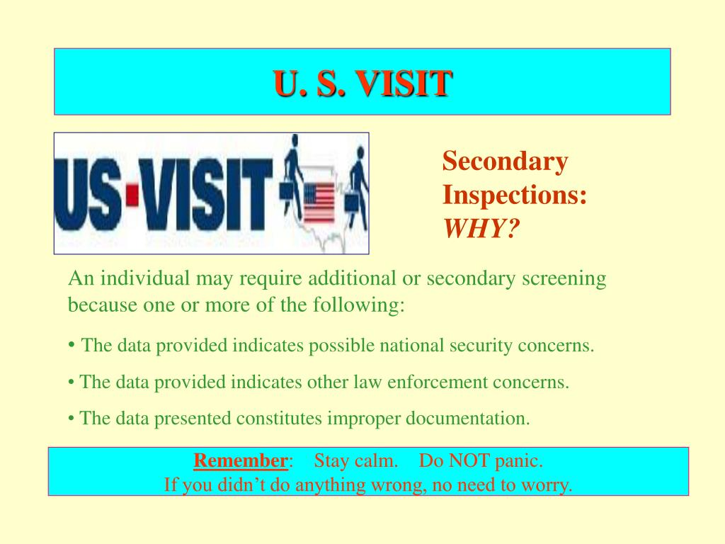 U. S. VISIT
