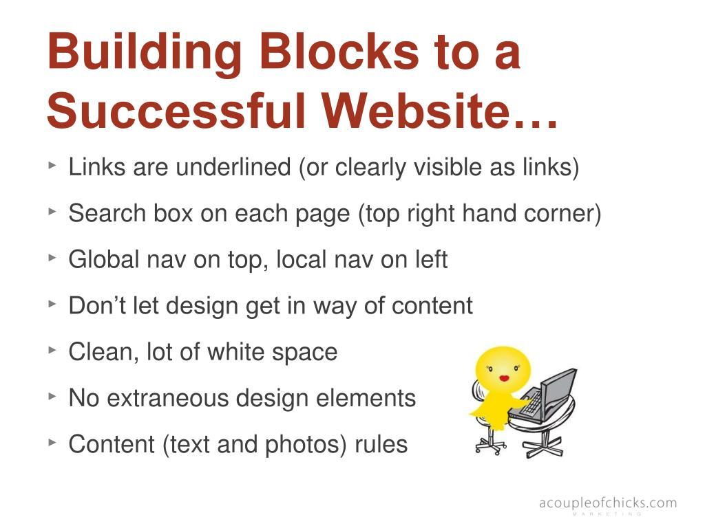 Building Blocks to a Successful Website…