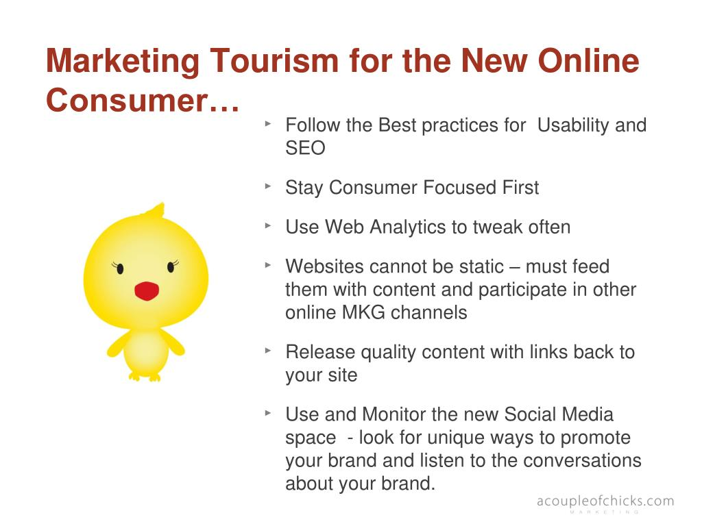 Marketing Tourism for the New Online Consumer…