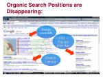 organic search positions are disappearing