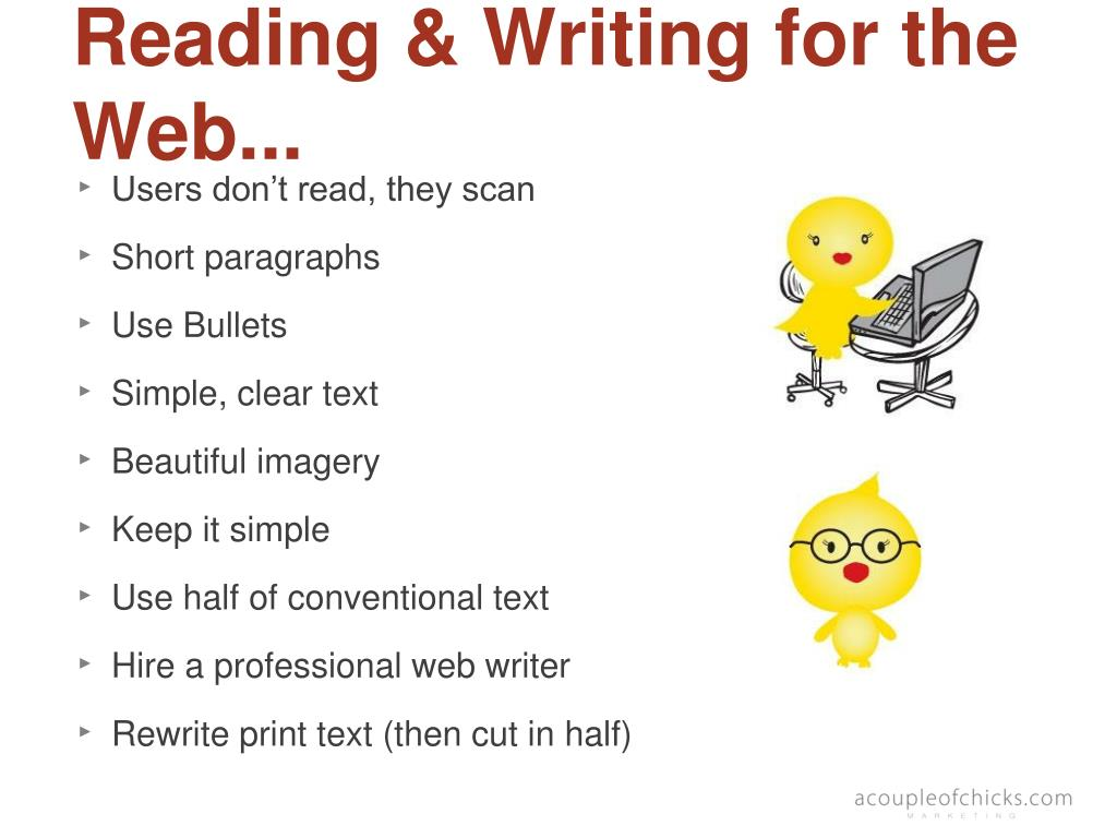 Reading & Writing for the Web...