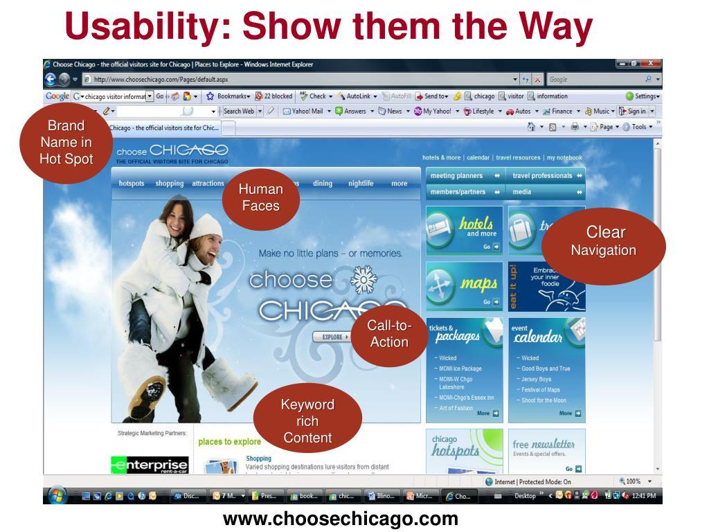 Usability: Show them the Way