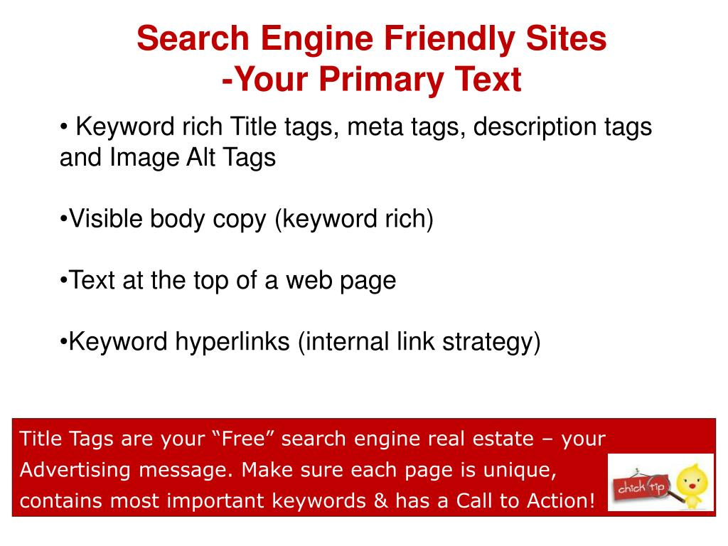 Search Engine Friendly Sites