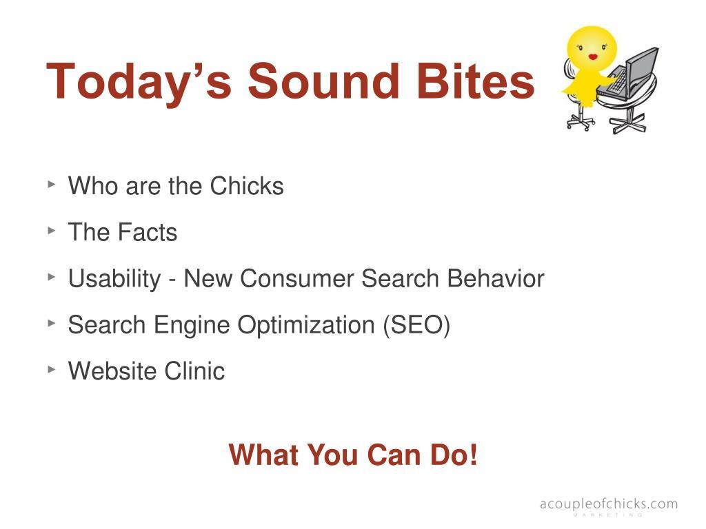 Today's Sound Bites