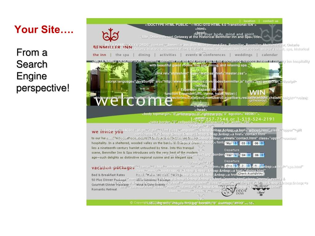 Your Site….